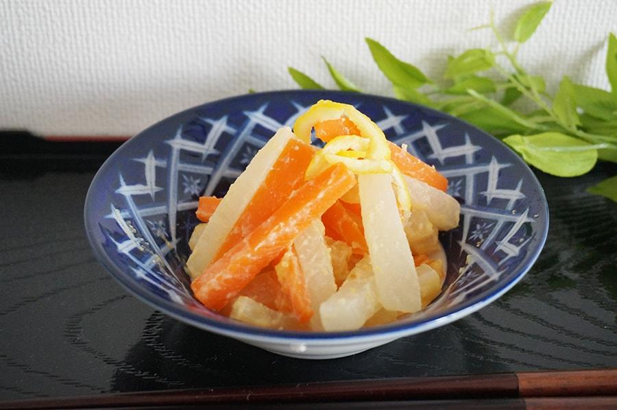 大根の柚子味噌和え
