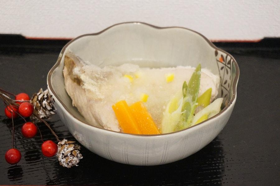 ぶりのおろし煮あられ柚子