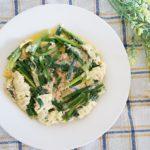 ポリ袋で簡単、ニラのツナ玉子とじのレシピ