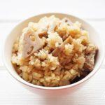 れんこんと鶏肉の炊き込みご飯の作り方。相葉マナブで話題のレシピ。