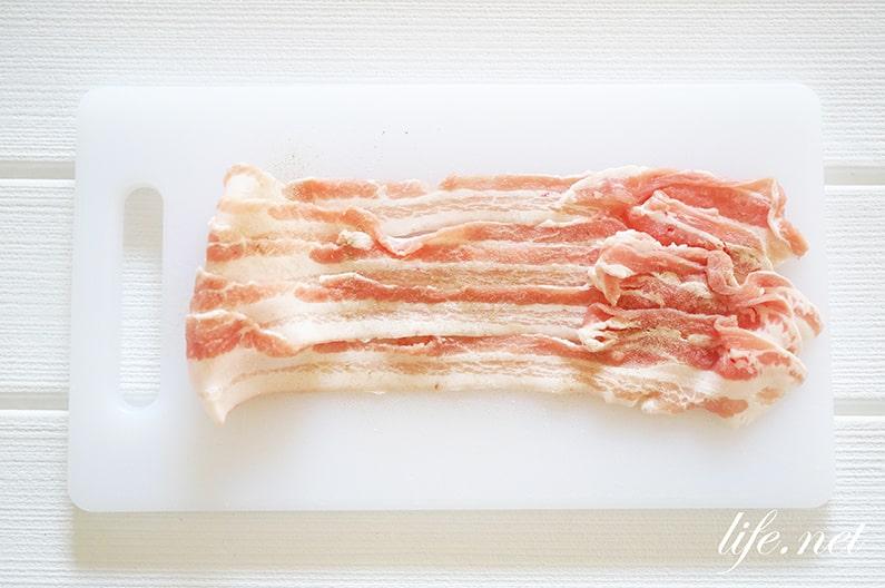 みたらし団子肉巻きのレシピ。テレビで話題の絶品豚バラ肉巻き。