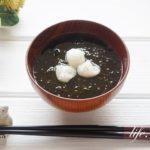 あられあおさ汁のレシピ。三重県のご当地料理のお吸い物。