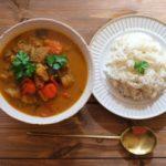 サバ缶とほうれん草のカレースープのレシピ