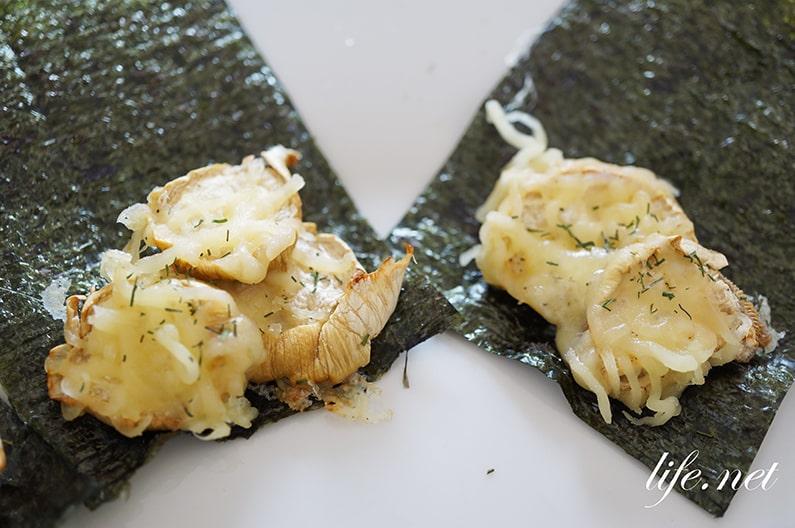ロバート馬場さんのエリンギチーズ海苔のレシピ。ホタテ貝柱風。