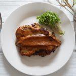 鶏肉の柿の味噌漬け焼き