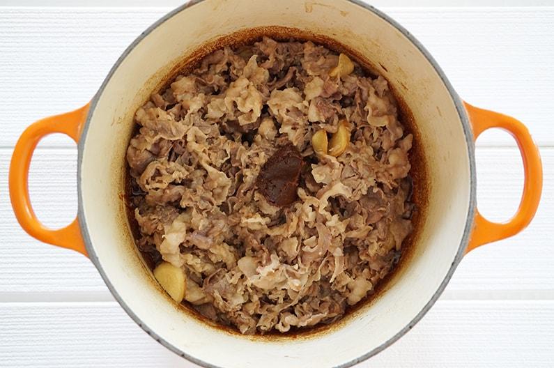 牛肉のしぐれ煮の作り方