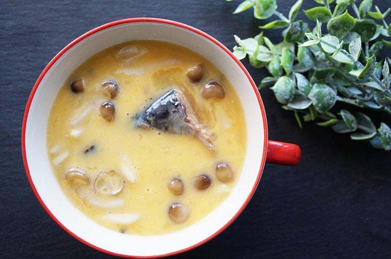 サバの水煮缶茶碗蒸しのレシピ