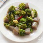 ブロッコリーとこんにゃくのアーリオオーリオ。志麻さんのレシピ。
