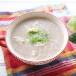 すりおろしれんこんの洋風スープのレシピ