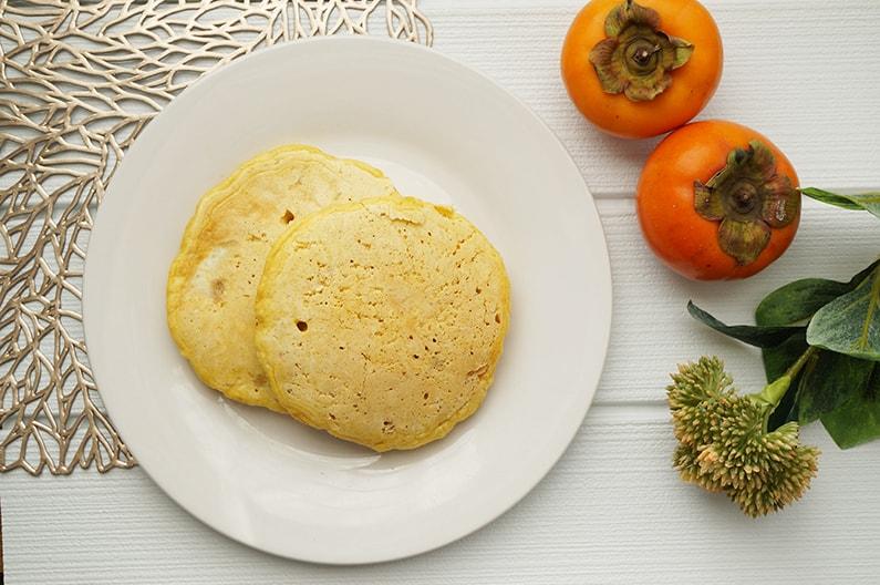 柿のパンケーキのレシピ