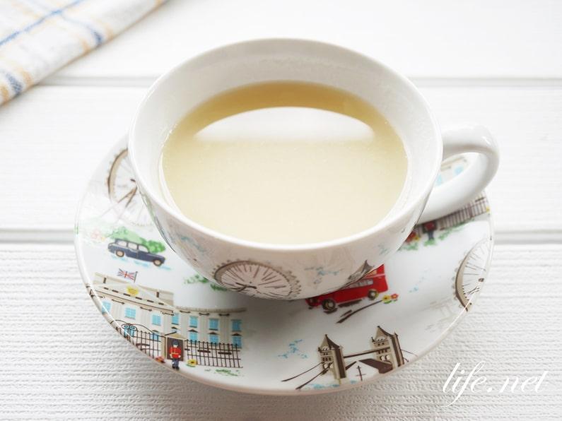 大根ホットドリンクのレシピ。おろし汁とはちみつの簡単ジュース。