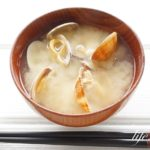 冷凍あさりの味噌汁ん折レシピ