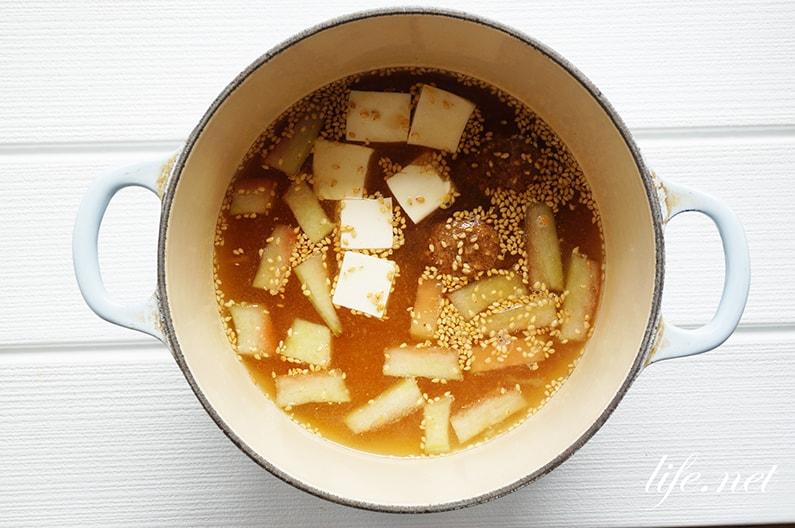スイカの皮の長生き味噌汁のレシピ