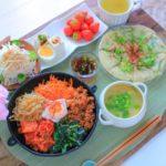 キムチ鍋のリメイクに、ビビンバのレシピ