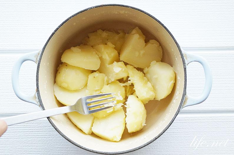男子ごはんのサバ缶ポテトサラダのレシピ。水煮缶とレモンで絶品に。