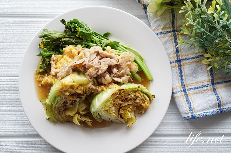 焼きキャベツの豚肉卵あんかけのレシピ。とろ卵豚キャベツ超え。