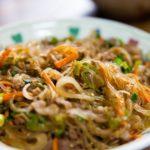 あさイチのひき肉と春野菜の春雨煮のレシピ。豚ひき肉とキャベツで。