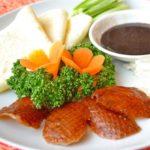 平野レミさんのペテンダックのレシピ。鶏肉の北京ダック風。