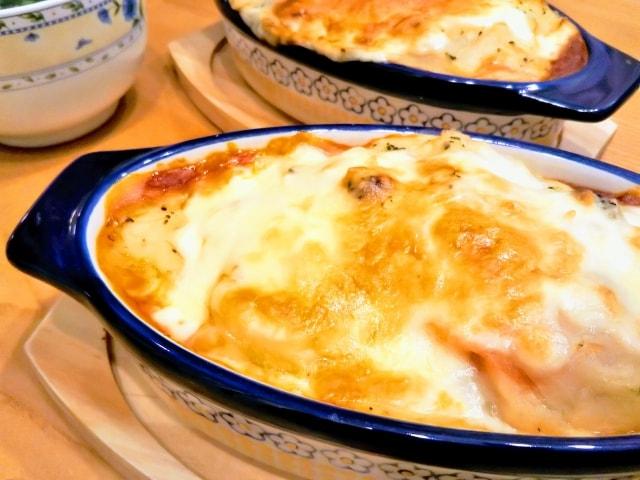 ハナタカで話題、お味噌汁とご飯の和風ドリアのレシピ。リメイクに!