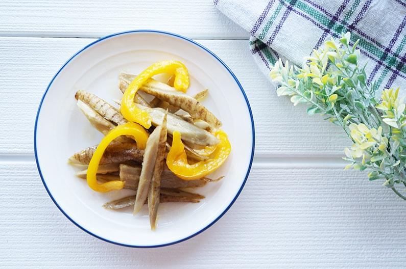 新ごぼうとパプリカのマリネのレシピ。あさイチで紹介。
