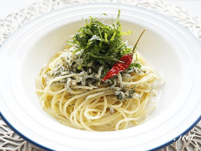 しらすと大葉のペペロンチーノパスタのレシピ