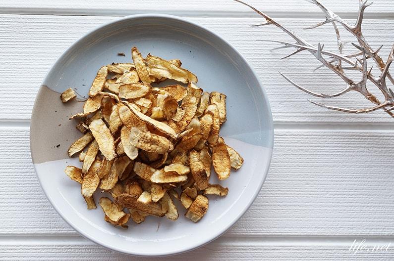 あさイチのごぼうチップスのレシピ。電子レンジでノンオイル、パリパリに。