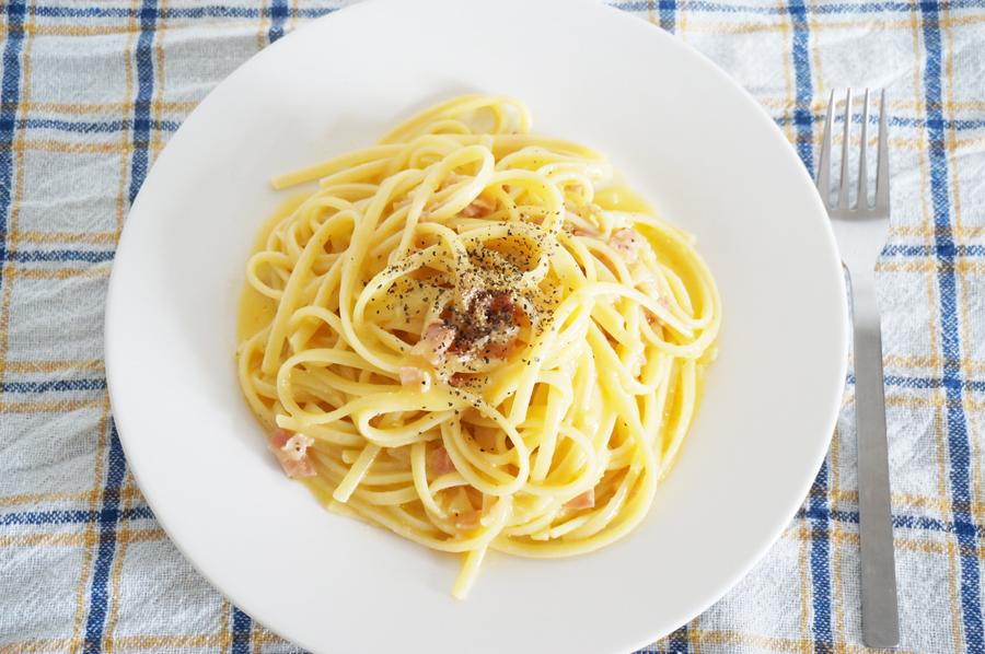 レモンカードのカルボナーラのレシピ