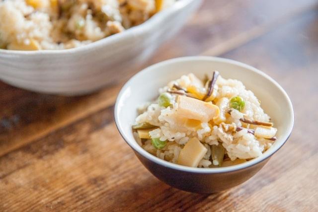 あさイチの山菜ごはんのレシピ。プロのもち米で作る作り方。