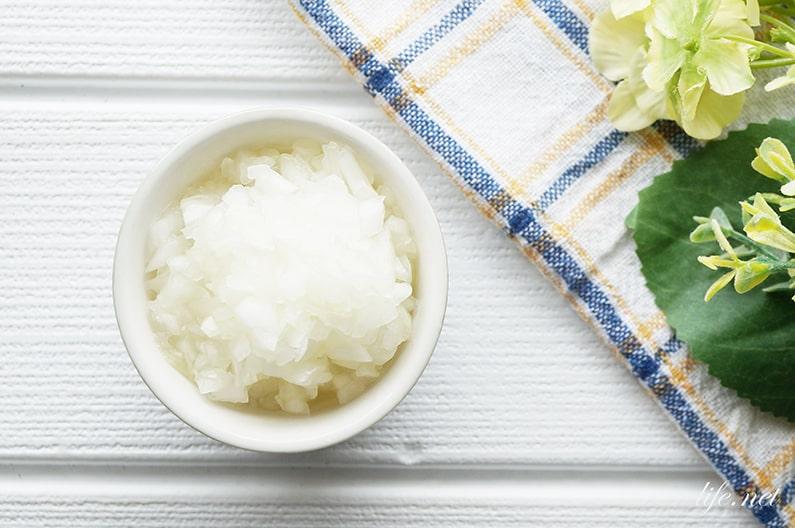 あさイチの新玉ねぎドレッシングのレシピ。みじん切りで簡単。