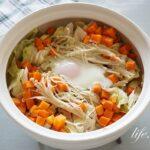 キャベツと鶏胸肉の鍋のレシピ。ダイエットにおすすめのメニュー。
