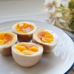 ハナタカの茹で卵の簡単アレンジ。しょうゆ&オリゴ糖の味付け煮卵。
