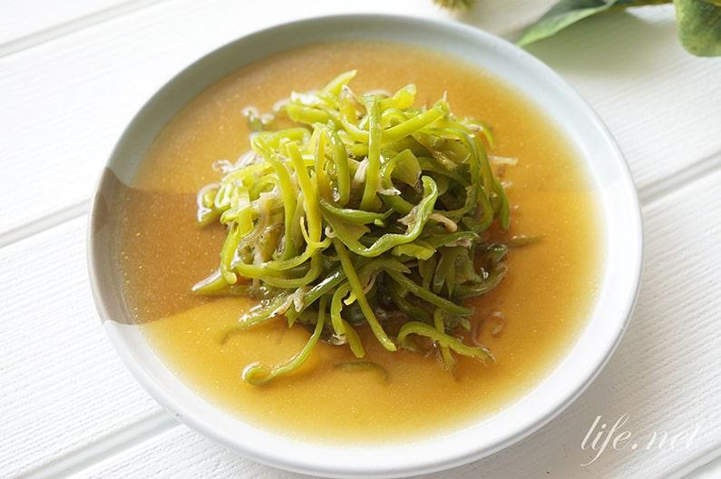 大原千鶴さんのじゃこピーマンのレシピ。NHKきょうの料理で話題。