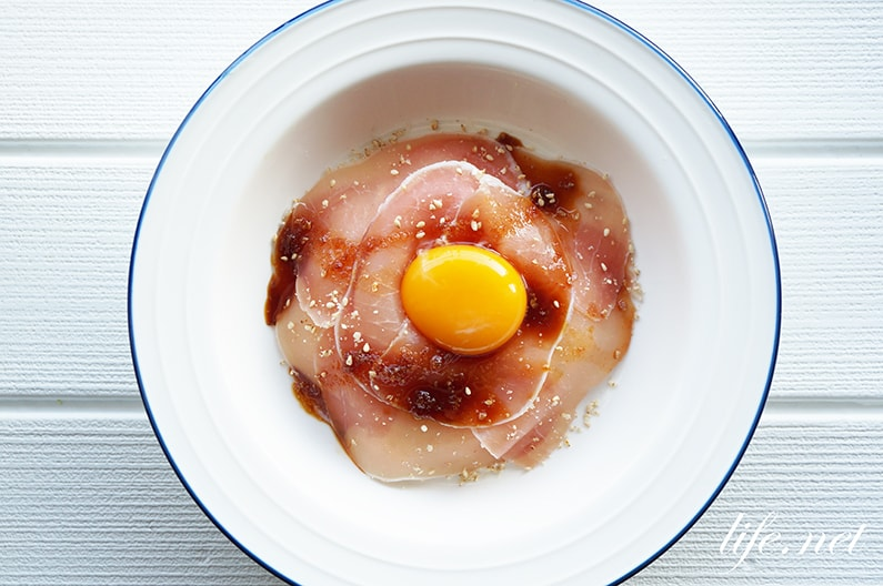 生ハム丼のバズレシピ。世界一受けたい授業で話題、たれがポイント。