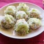 平野レミさんのキャベツしゅうまいのレシピ。キャベツのだんご蒸し。