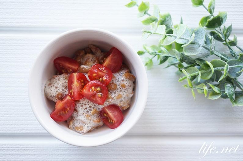 トマト納豆の健康効果。教えてもらう前と後で話題のレシピ。