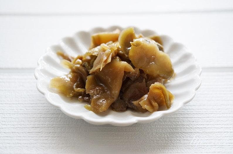 平野レミさんのまるでザーサイのレシピ。キャベツの芯の活用料理。