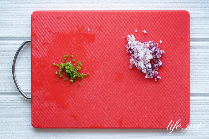 セヴィーチェのレシピ。ペルー風ホタテのお刺身サラダの作り方。