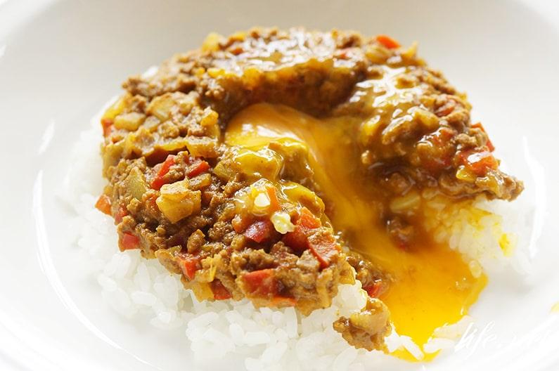 レンジで簡単キーマカレーのレシピ。ごごナマおいしい金曜日で紹介。