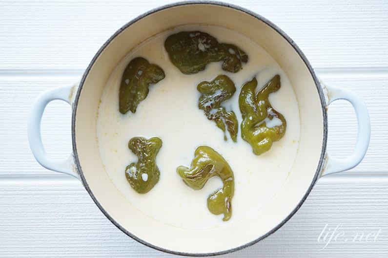 ピーマンと卵のおかず味噌汁のレシピ。ヒルナンデスで話題の作り方。