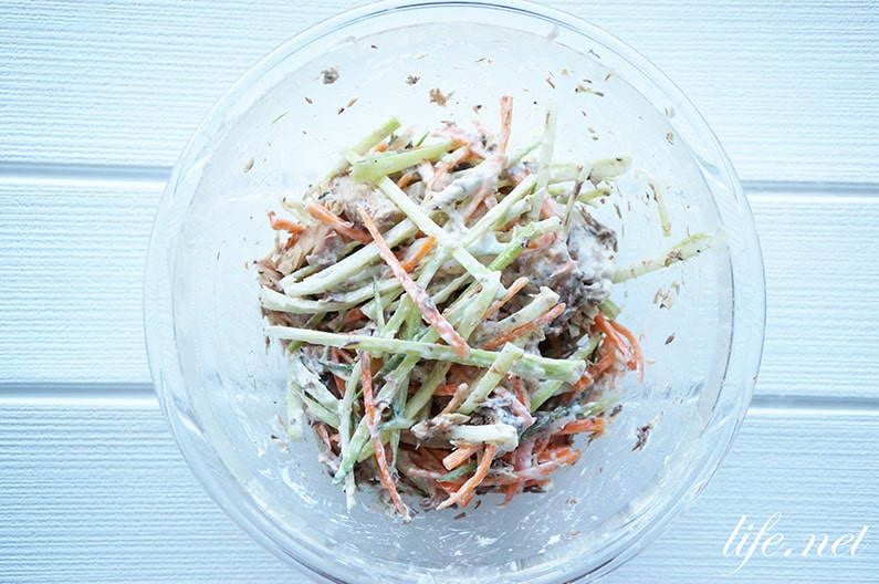 志麻さんの鯖缶のヨーグルトサラダのレシピ。沸騰ワード10で話題に。