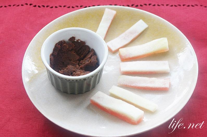 スイカの皮のもろきゅう風レシピ
