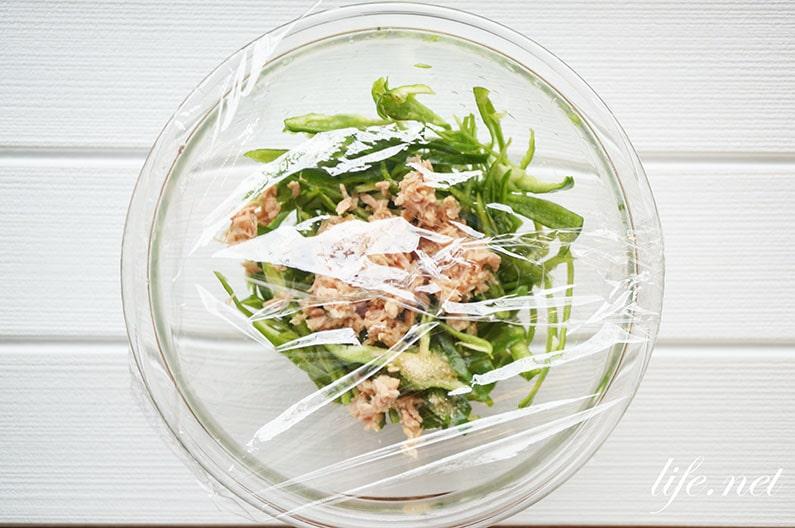ツナマヨピーマンのレシピ。レンジで簡単!子供にも人気メニュー。