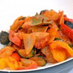 男子ごはんの浅漬けカポナータのレシピ。トマトズッキーニきゅうりで。