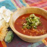 トマトジュースの冷や汁風味噌汁のレシピ。ヒルナンデスで紹介。