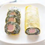 魚肉ソーセージの太巻きの作り方。子供が喜ぶ海苔巻きのレシピ。