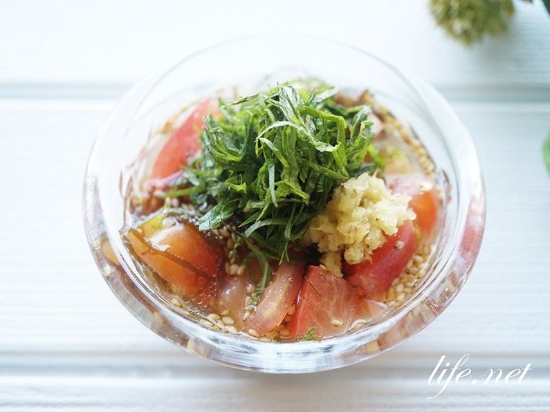 トマトもずく酢のレシピ。ダイエットにも効果的。