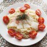 イタリアン風冷製そうめんのレシピ。鯛とディル、オリーブオイルで。