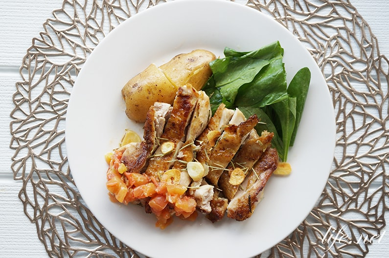あさイチのチキンソテーのレシピ。皮がパリパリに焼ける作り方。