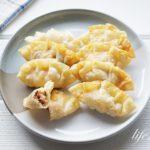 なすの揚げ餃子のレシピ。ハム、チーズ入りの洋風餃子の作り方。