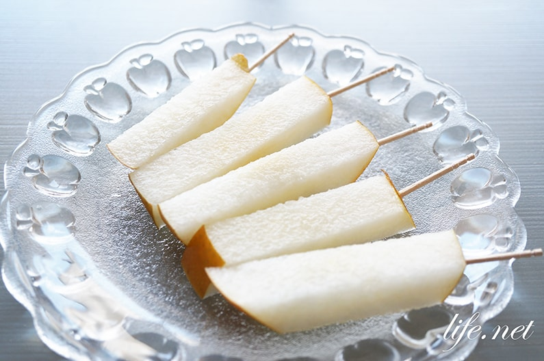 梨のスティック切りの切り方